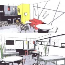 perspective salle de restauration- projet 01