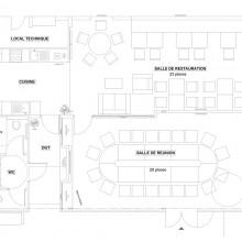plan d'aménagement projet 02 salle de réunion et salle de restauration