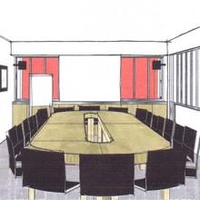 perspective salle de reunion - projet 02